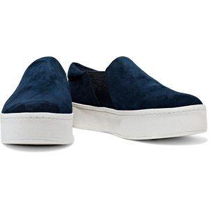 Vince Warren Platform Suede Navy Blue Sneakers